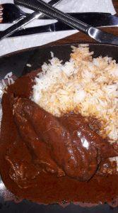 Chicken Mole and Basmati Rice